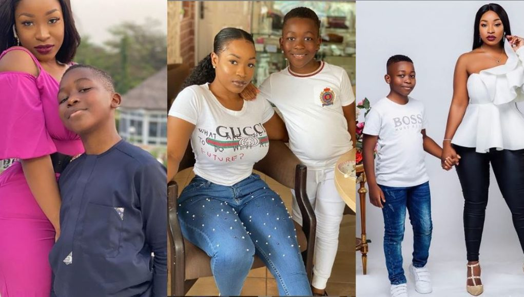 #BBNaija: Check Out Photos Of New Housemate, Jackie B With Her Son, Nathan (Photos)