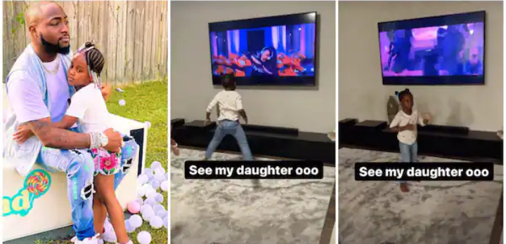Davido Screams as 4-Year-Old Daughter Hailey Splits While Dancing to Ciara's Level Up Song (VIDEO)
