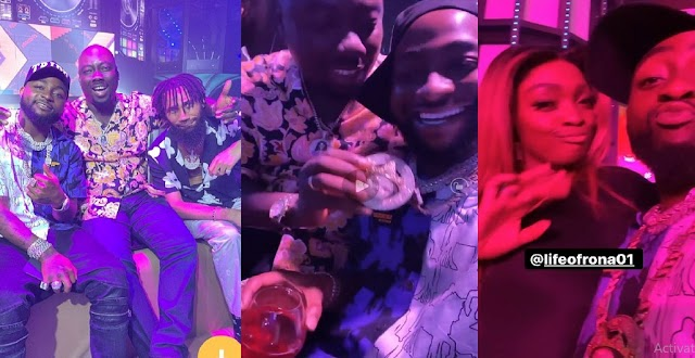 Singer Davido Returns to Nigeria, Hangs out With Obi Cubana and Phyno at Club in New Video (VIDEO)