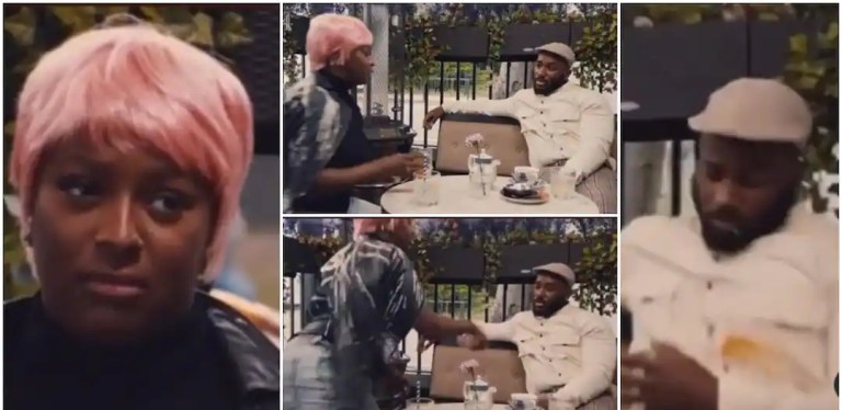 DJ Cuppy Pours Drink on Kiddwaya for Telling Her to Drop Billionaire Attitude and Find a Man in Trending Video (Video)