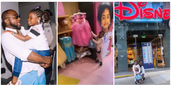 Nigerian Singer Davido and First Daughter Imade Spends Time at Disneyland, Go Shopping (Video)
