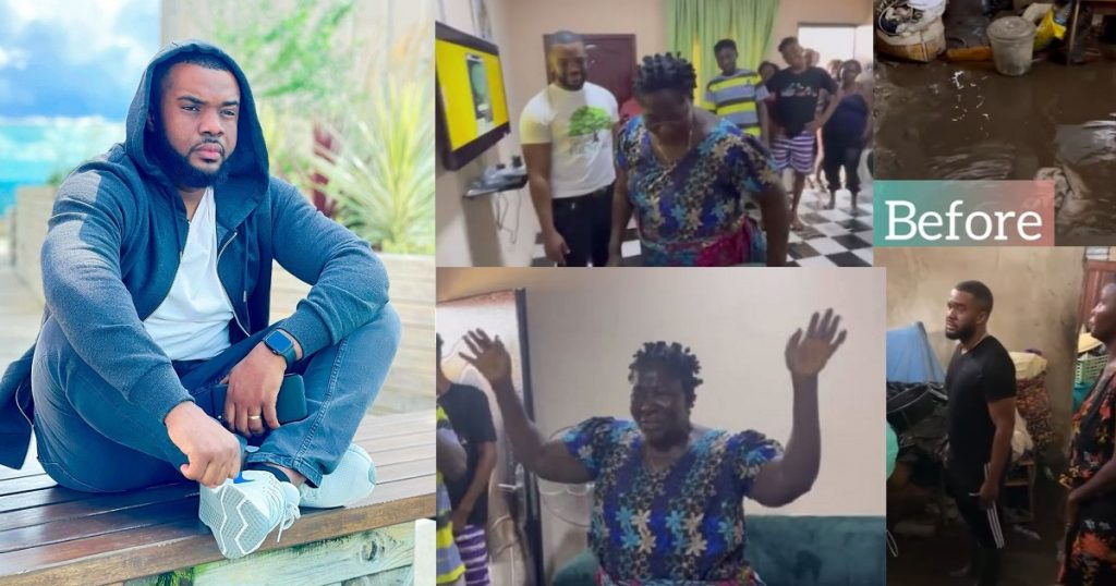 Actor, Williams Uchemba gifts widow a fully furnished house (video)