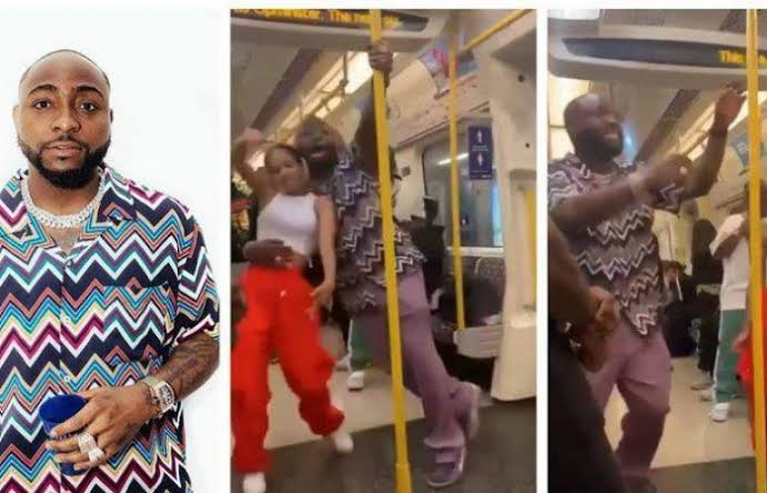 Davido Spotted Dancing With Unknown Lady on London Train in Viral Video, Fans React (Video)