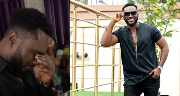 #BBNaija Star, Pere gets emotional over the love and support he's received from his fans (Video)