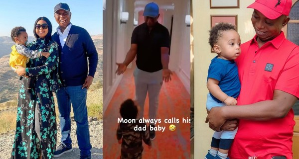 """""""Who calls their father baby?"""" – Regina Daniels says as she shares video of her son calling Ned Nwoko baby (WATCH)"""