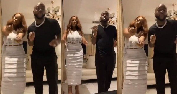 #BBNaija star, Angel spotted with singer, Davido Dancing to his song(Video)