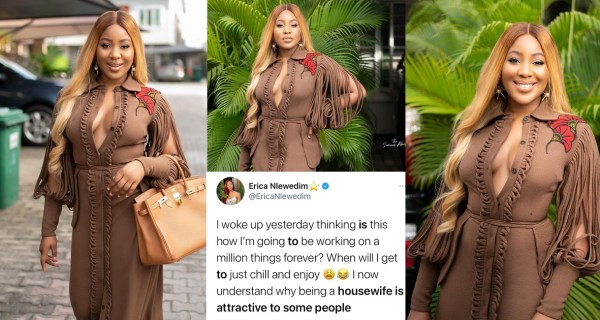 Reality star, Erica comes under fire after she said she 'now understands why being a housewife is attractive to some people'
