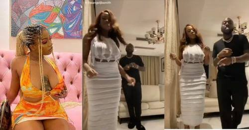 Another Babymama Loading, she sold her market well in the house, Reactions As Angel Spotted Dancing and Smoking with Davido Inside (VIDEO)